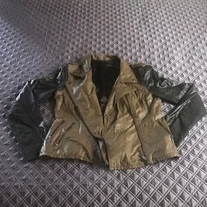 BLANK NYC multi-color faux leather jacket